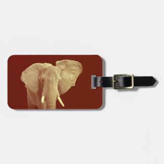Afrikanischer Elefant - Adressen-Gepäckanhänger Gepäckanhänger
