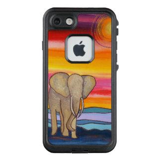 Afrikanischer Elefant am Sonnenuntergang LifeProof FRÄ' iPhone 8/7 Hülle
