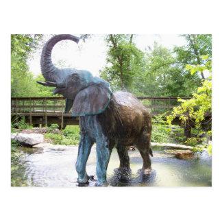 Afrikanischer Elefant-Bronzeskulptur Postkarte