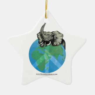 Afrikanischer Elefant-Friedensentwurf Keramik Ornament