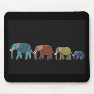 Afrikanischer Elefant-Neonweg Mousepad