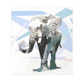 afrikanischer Elefant Notizblock