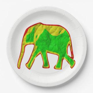 Afrikanischer Elefant Pappteller