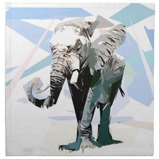 Afrikanischer Elefant Serviette