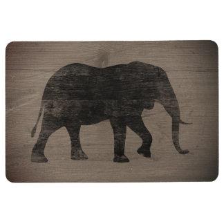 Afrikanischer Elefant-Silhouette-rustikale Art Bodenmatte