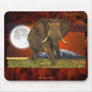 Afrikanischer Elefant-u. Mousepad