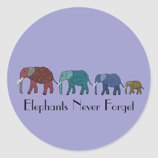 Afrikanischer Elefant-Weg Runder Aufkleber