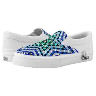 Afrikanischer Entwurf - blauer Stern-Beleg an Slip-On Sneaker