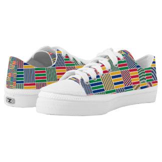Afrikanischer geometrischer Druck Kwanzaas (6) Niedrig-geschnittene Sneaker