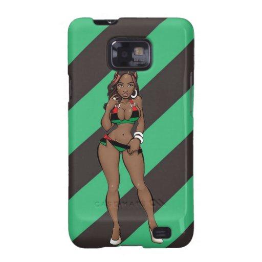 Afrikanischer Kasten Bikini-Modell-Samsung-Galaxie Samsung Galaxy SII Cover