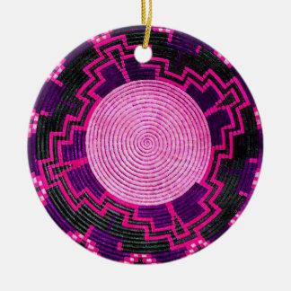 Afrikanischer Korb-kundenspezifische Keramik Ornament