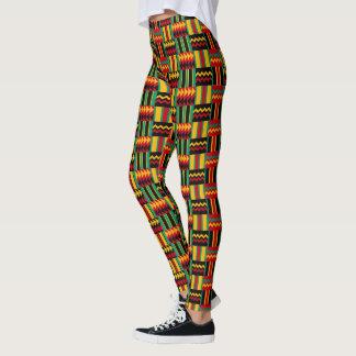 Afrikanischer Korbgeflecht-Stolz-rotes Leggings
