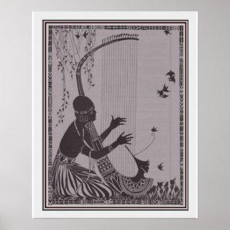 Afrikanischer Kunst-Deko-Druck 16x20 CA 1927 Poster