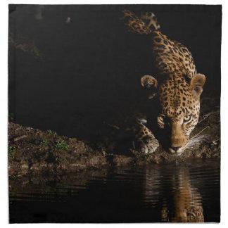 Afrikanischer Leopard Stoffserviette
