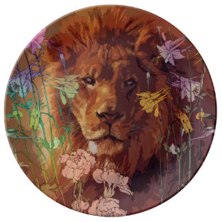 "Afrikanischer Löwe 10,75"" dekorative Porzellanteller"