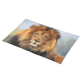 Afrikanischer Löwe 1 Stofftischset