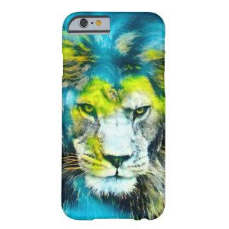 Afrikanischer Löwe-Fantasie-Spritzpistolen-Kunst Barely There iPhone 6 Hülle