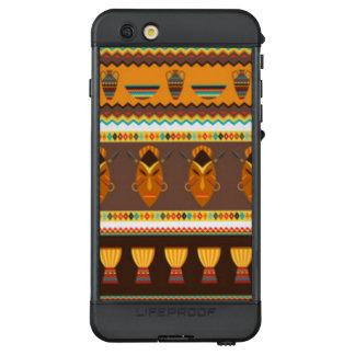 Afrikanischer Masken-Trommel-Muster-Druck-Entwurf LifeProof NÜÜD iPhone 6s Plus Hülle
