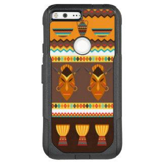 Afrikanischer Masken-Trommel-Muster-Druck-Entwurf OtterBox Commuter Google Pixel XL Hülle