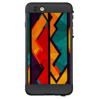 Afrikanischer mehrfarbiger Muster-Druck-Entwurf LifeProof NÜÜD iPhone 6 Plus Hülle