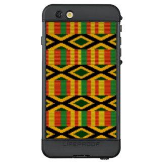 Afrikanischer multi Farbmuster-Druck-Entwurf LifeProof NÜÜD iPhone 6s Plus Hülle