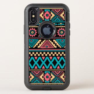 Afrikanischer Muster-Druck OtterBox Defender iPhone X Hülle