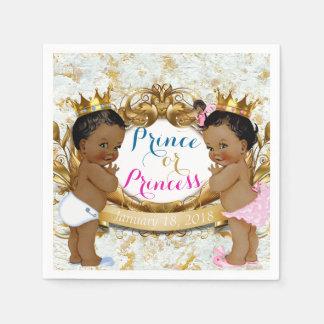 Afrikanischer Prinz oder Prinzessin Gender Reveal Papierservietten
