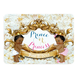Afrikanischer Prinz u. Prinzessin Gender Reveal Karte