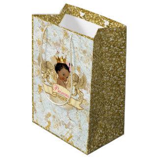 Afrikanischer Prinz u. Prinzessin Gender Reveal Mittlere Geschenktüte