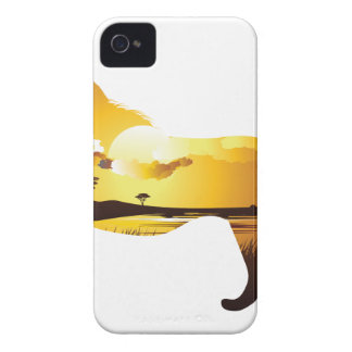 Afrikanischer Sonnenuntergang mit Lion2 iPhone 4 Cover