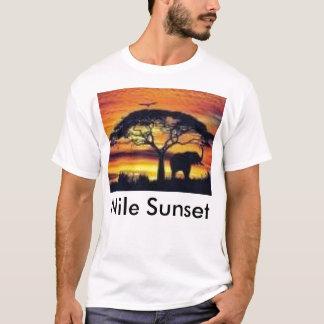 Afrikanischer Sonnenuntergang, Nil-Sonnenuntergang T-Shirt