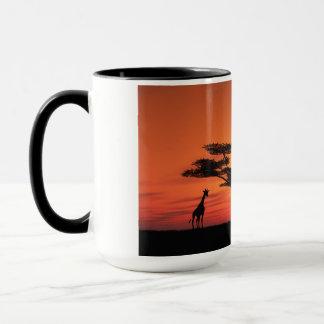 Afrikanischer Sonnenuntergang Tasse