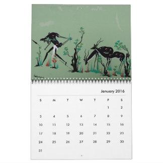 Afrikanischer Stammes- Kunst-Kalender Abreißkalender