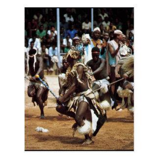 Afrikanischer Tanz Südafrikaner Postkarte