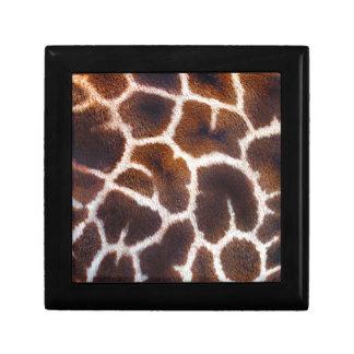 Afrikanischer Tier-Giraffen-Pelz-Foto-Entwurf Geschenkbox