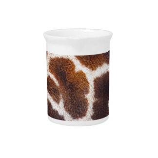 Afrikanischer Tier-Giraffen-Pelz-Foto-Entwurf Getränke Pitcher