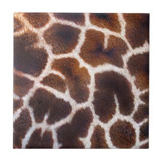 Afrikanischer Tier-Giraffen-Pelz-Foto-Entwurf Keramikfliese