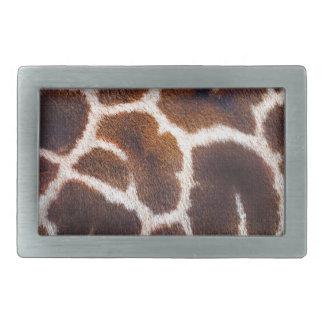Afrikanischer Tier-Giraffen-Pelz-Foto-Entwurf Rechteckige Gürtelschnallen
