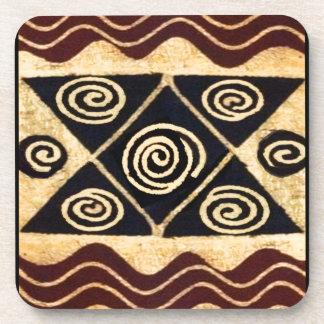 Afrikanischer ursprünglicher Dekor Getränkeuntersetzer