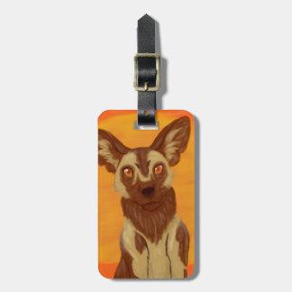 Afrikanischer wilder Hund Gepäckanhänger