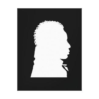 Afrikanisches amerikanisches Silhouette rightt Geg Leinwanddruck