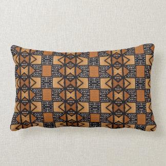 Afrikanisches Art-Muster in ockerhaltigem, Lendenkissen