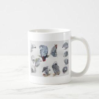 Afrikanisches Grau-Papagei. Exklusives entworfen Kaffeetasse