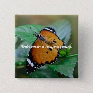 Afrikanisches Monarchfalterinspirationszitat Quadratischer Button 5,1 Cm
