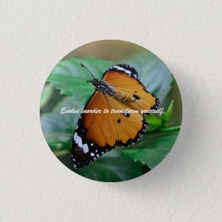 Afrikanisches Monarchfalterinspirationszitat Runder Button 2,5 Cm