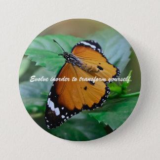 Afrikanisches Monarchfalterinspirationszitat Runder Button 7,6 Cm