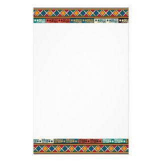 Afrikanisches Motiv-bunter dekorativer Druckpapier