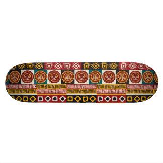 Afrikanisches Motiv-bunter dekorativer Individuelles Skateboard