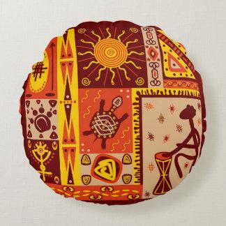Afrikanisches Muster 2 Rundes Kissen