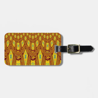 Afrikanisches Stammes- Motiv Gepäckanhänger